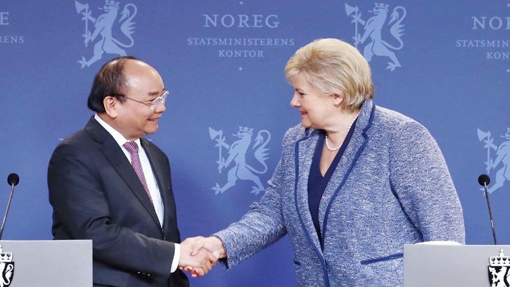 Thủ tướng Nguyễn Xuân Phúc, hội đàm, Thủ tướng Na Uy
