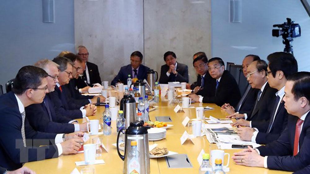 Thủ tướng Nguyễn Xuân Phúc, Na Uy,  tập đoàn hàng đầu Na Uy, Tập đoàn Kongsberg, DVL-GL, Pharmaq, Vard, Juton, Scatec Solar