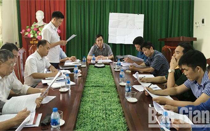 Triển khai phương án cưỡng chế thu hồi đất xây dựng dự án tại xã Song Khê