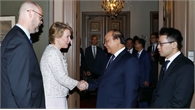 Thủ tướng Nguyễn Xuân Phúc tiếp lãnh đạo các tập đoàn hàng đầu Thụy Điển