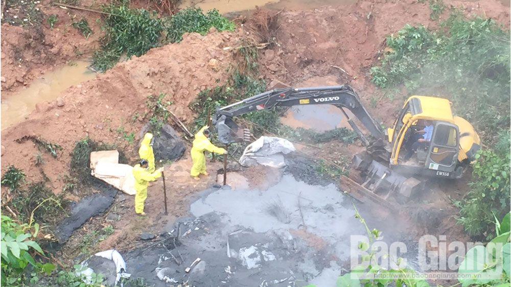 Tỉnh Bắc Giang, Lục Nam, đổ trộm hóa chất tại Lục Nam, Đổ trộm hóa chất độc hại, ô nhiễm môi trường, Báo Bắc Giang
