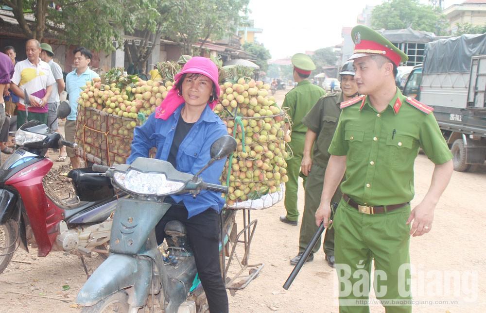 vải thiều, Bắc Giang, an toàn giao thông, thu hoạch vải thiều, an ninh trật tự