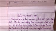Cậu bé lớp 4 viết thư phản đối áp lực điểm 10 khiến cha mẹ lặng người