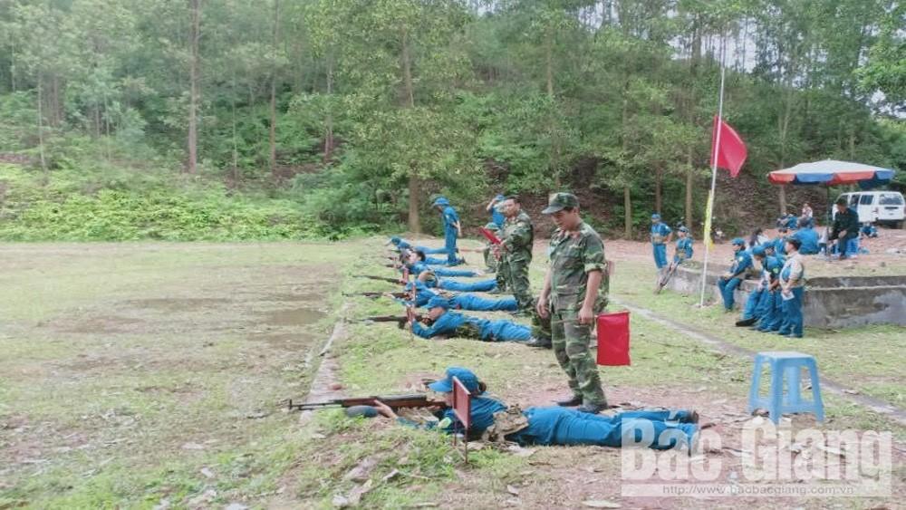 Hội thao lực lượng Dân quân tự vệ huyện Lạng Giang năm 2019