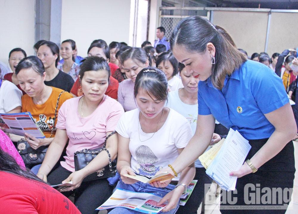 Tháng Công nhân, lợi ích đoàn viên, người lao động, cơ sở, Bắc Giang
