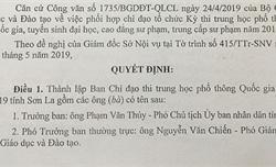 Trưởng Ban chỉ đạo thi THPT Quốc gia 2019 tại Sơn La vẫn là người cũ