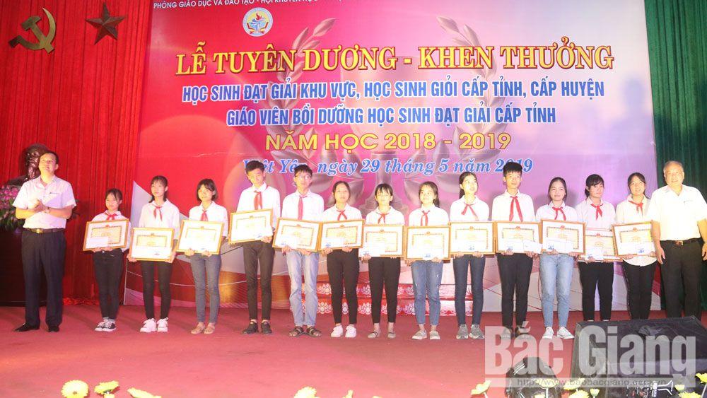 Việt yên, tuyên dương, giáo viên, học sinh giỏi