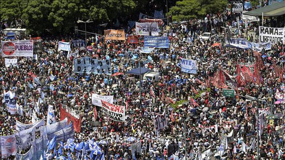 tổ chức công đoàn, tổng đình công, phản đối chính sách kinh tế, chính phủ Argentina
