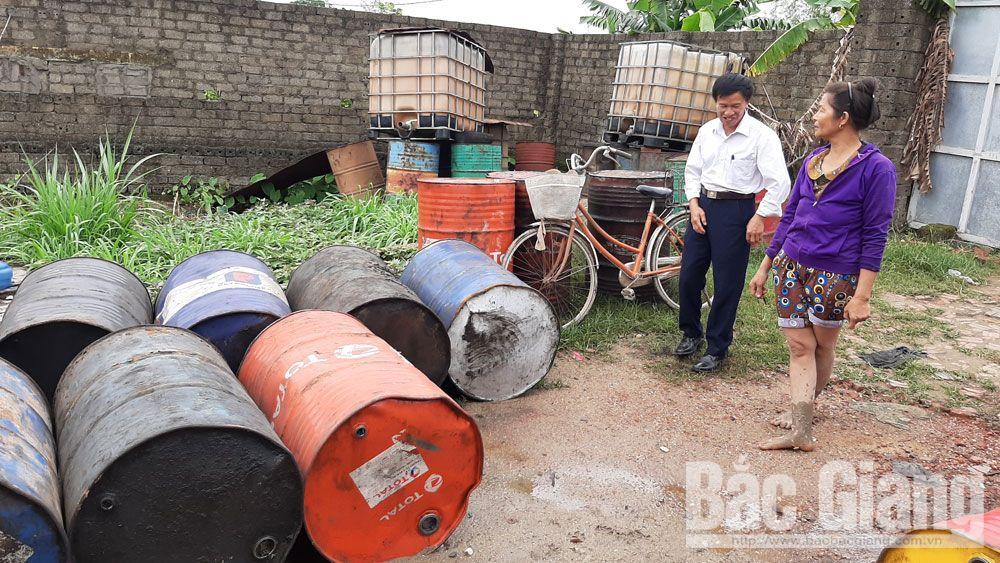 xã Mai Trung, Hiệp Hòa, Bắc Giang, ô nhiễm môi trường, tái chế dầu nhớt thải
