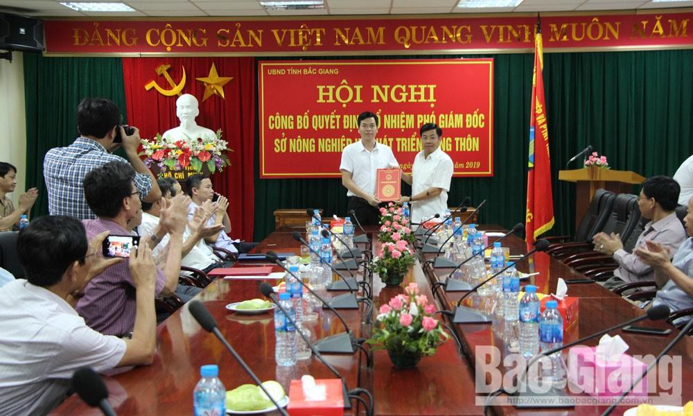 Ông Nguyễn Viết Toàn, Phó Giám đốc Sở Nông nghiệp và PTNT, ngày 1-6, tỉnh Bắc Giang