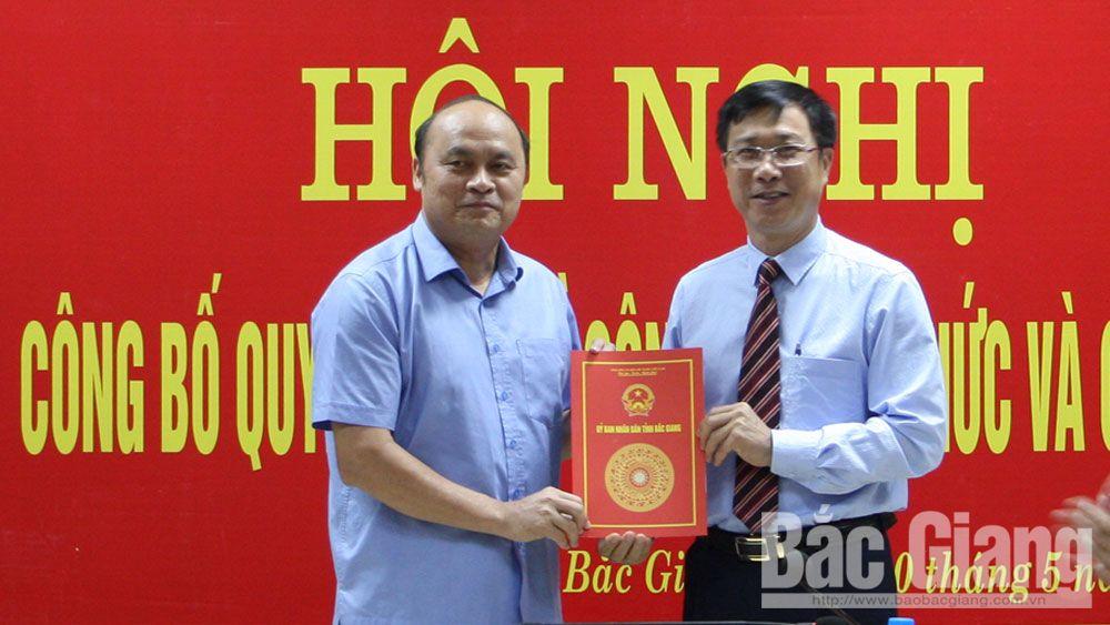 Chính trị, xã hội, bổ nhiệm, Vũ Mạnh Hùng, giám đốc, Bắc Giang, tỉnh Bắc Giang, Sở Nội vụ