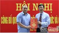 Ông Vũ Mạnh Hùng giữ chức Giám đốc Sở Nội vụ tỉnh Bắc Giang