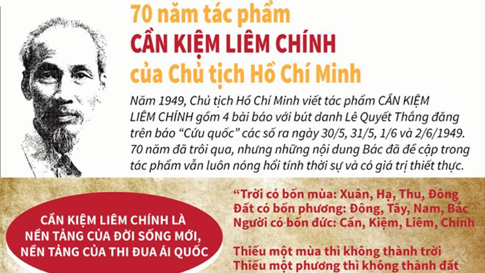 70 năm tác phẩm CẦN KIỆM LIÊM CHÍNH của Chủ tịch Hồ Chí Minh