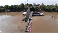 Cầu Tân Nghĩa sập do tài xế cố tình vi phạm tải trọng