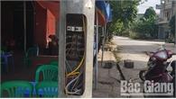 TP Bắc Giang: Nhiều cột đèn chiếu sáng đô thị bị trộm nắp