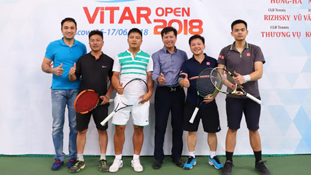 Tennis tournament, Vietnamese players, Russia, ViTAR, solidarity and mutual support,  sport practice movement, physical and spiritual life