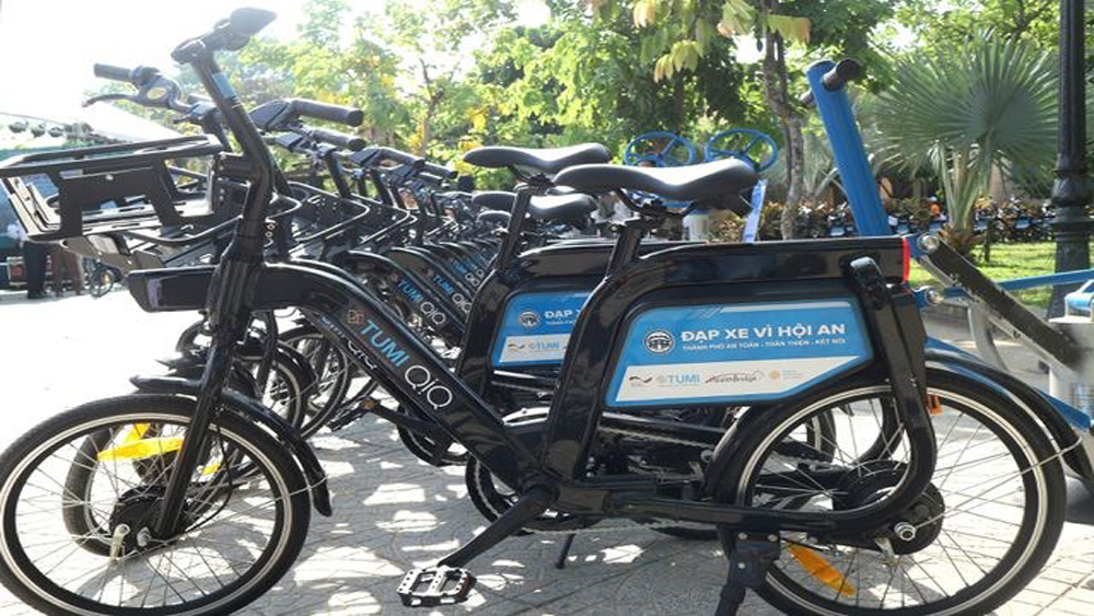Bicycle sharing programme, Hoi An town, German Development Cooperation Agency,  Health Bridge Canada, on-motorised transport