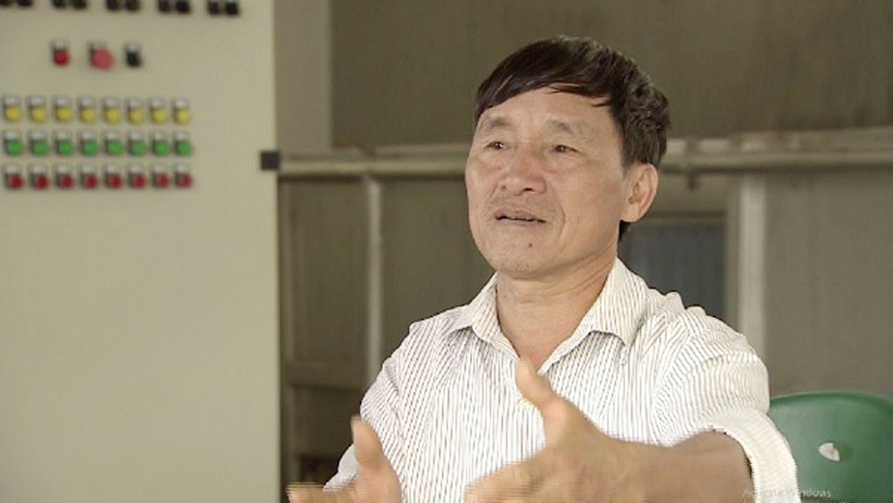 Ông Vũ Lệnh Sánh - Phó Giám đốc Trung tâm Dịch vụ kĩ thuật nông nghiệp, huyện Lục Ngạn, tỉnh Bắc Giang.