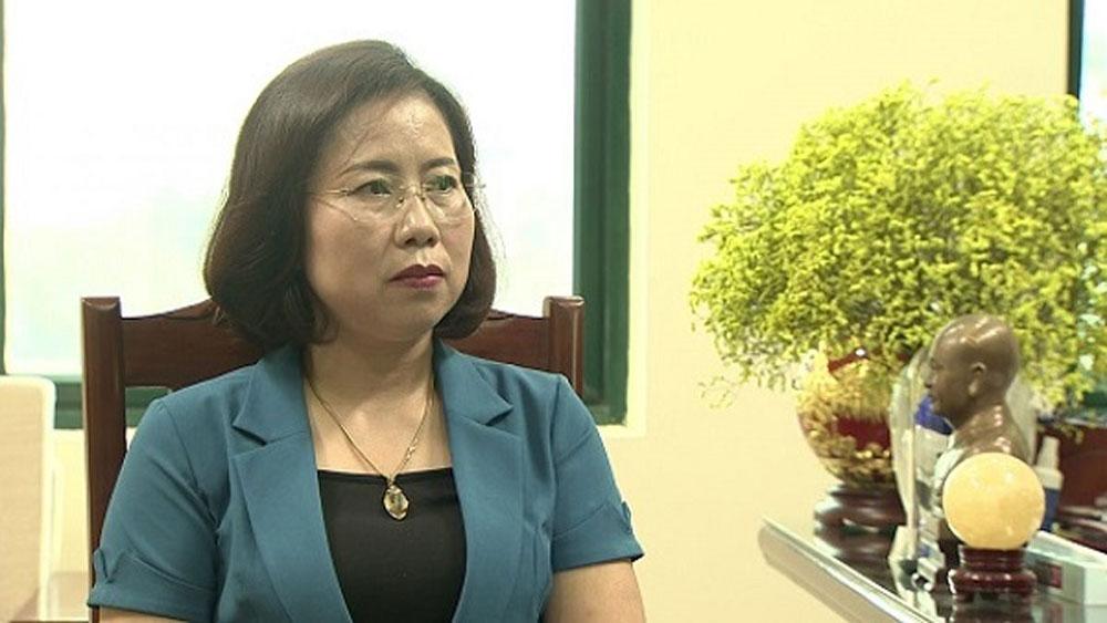 Bà Bùi Thị Thơm - Phó Chủ tịch T.Ư Hội Nông dân Việt Nam.