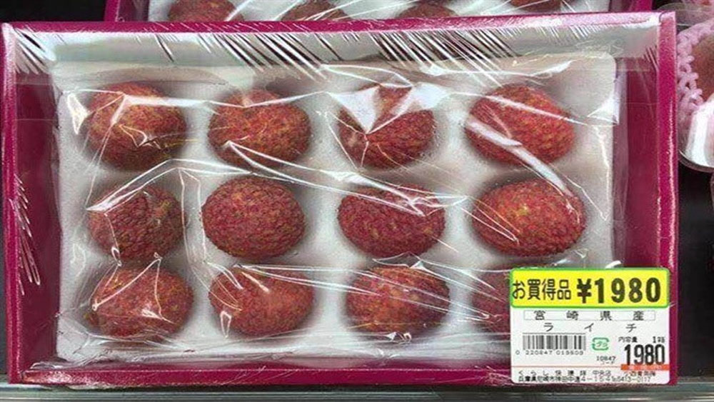 15 quả vải tại Nhật Bản có giá 1 triệu đồng