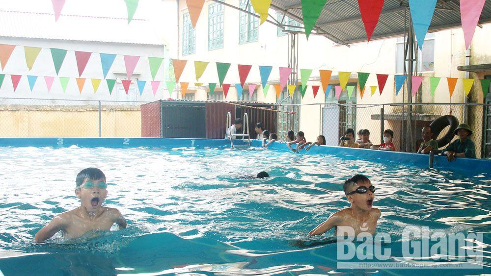 đuối nước, Bắc Giang, học bơi, Lục Nam, mùa hè
