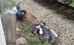 Tàu hỏa va xe máy ở Bắc Giang, một người tử vong