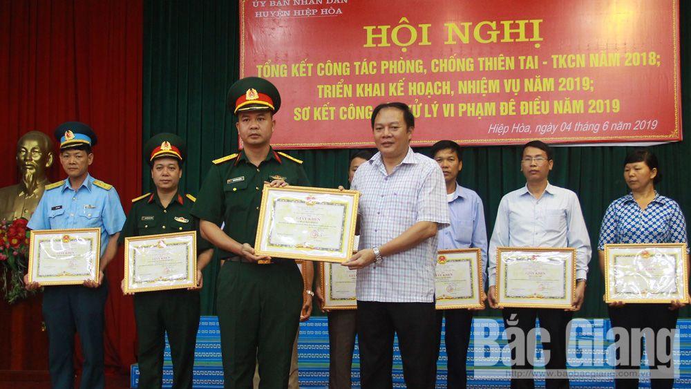 Hiệp Hòa triển khai nhiệm vụ phòng, chống thiên tai và tìm kiếm cứu nạn năm 2019