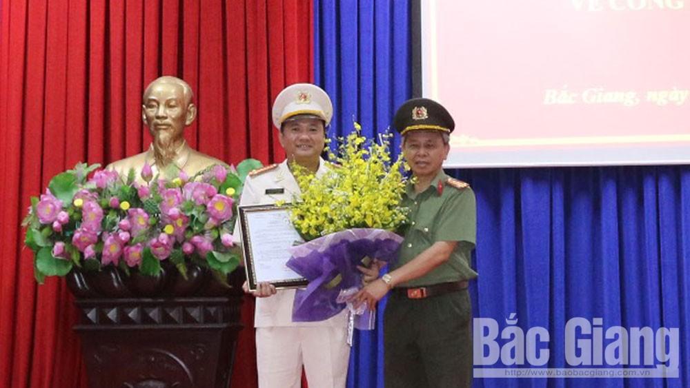 Đại tá Nguyễn Mạnh Hùng giữ chức Phó Giám đốc Công an tỉnh Bắc Giang