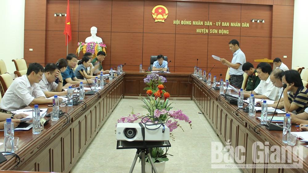 Huyện Sơn Động, Triển khai phương án phòng chống thiên tai, Sơn Động tìm kiếm cứu nạn