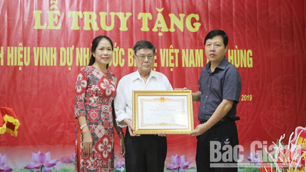 Thành phố Bắc Giang, truy tặng danh hiệu nhà nước, Mẹ Việt Nam Anh hùng