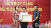 Thành phố Bắc Giang truy tặng danh hiệu nhà nước Bà mẹ Việt Nam Anh hùng