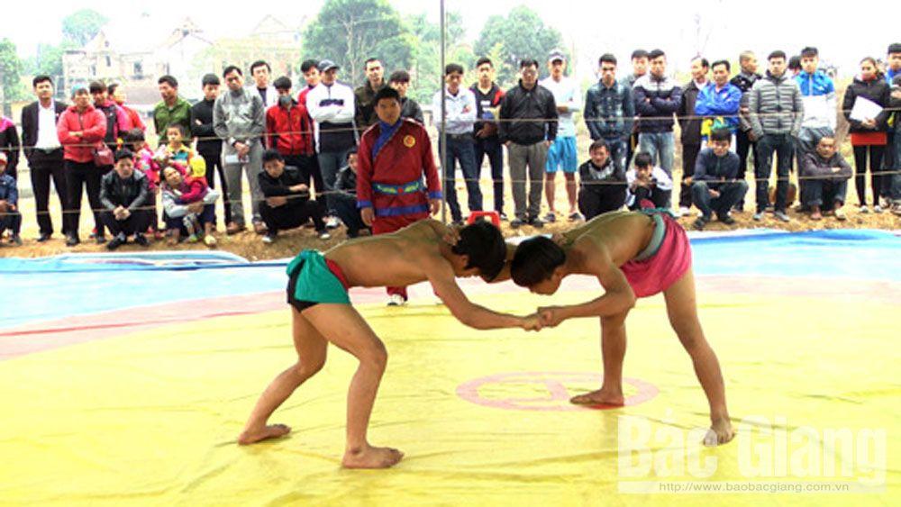 Thể thao tân Yên, đất cầu vồng, Bắc Giang, thể thao dân tộc, vật, đẩy gậy