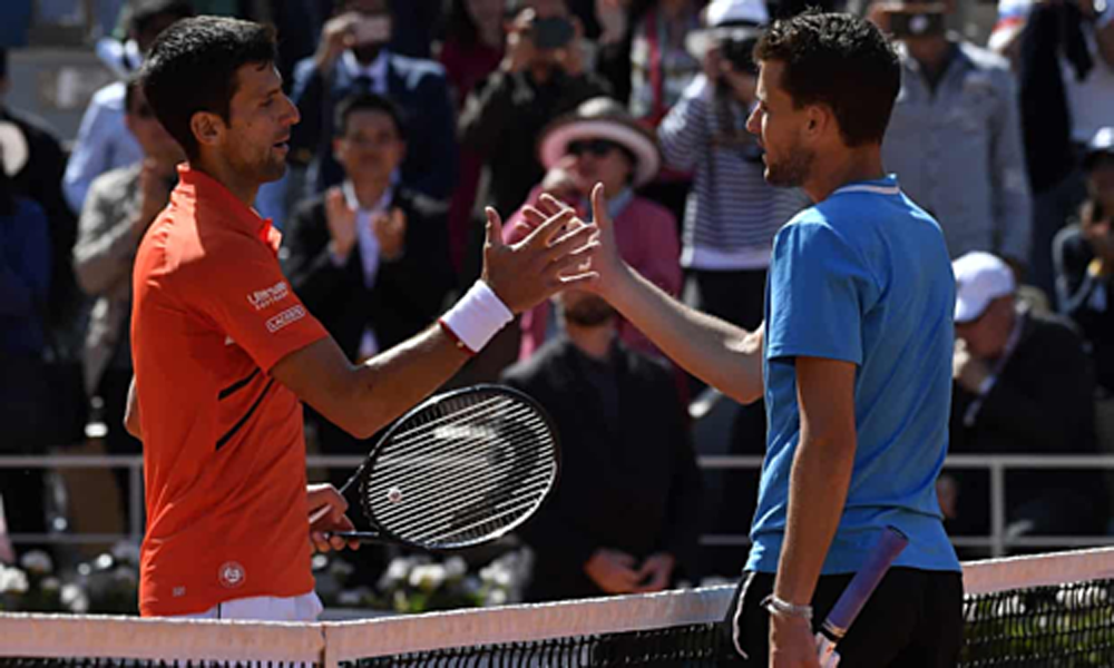 Novak Djokovic, Dominic Thiem, Roland Garros 2019