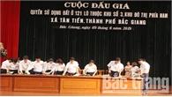 Bắc Giang: Đấu giá 121 lô đất ở, thu hơn 323,7 tỷ đồng