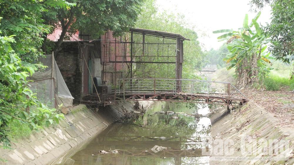 Bắc Giang, Lục Nam, công trình thủy lợi, xâm hại, phòng, chống lụt bão