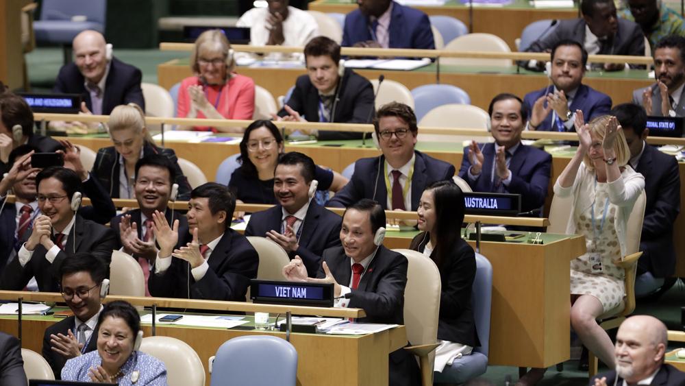 luận điệu xuyên tạc, Liên Hợp quốc, Cộng đồng quốc tế, ủy viên không thường trực Hội đồng Bảo an, bản chất chế độ xã hội, vị thế chính trị Việt Nam
