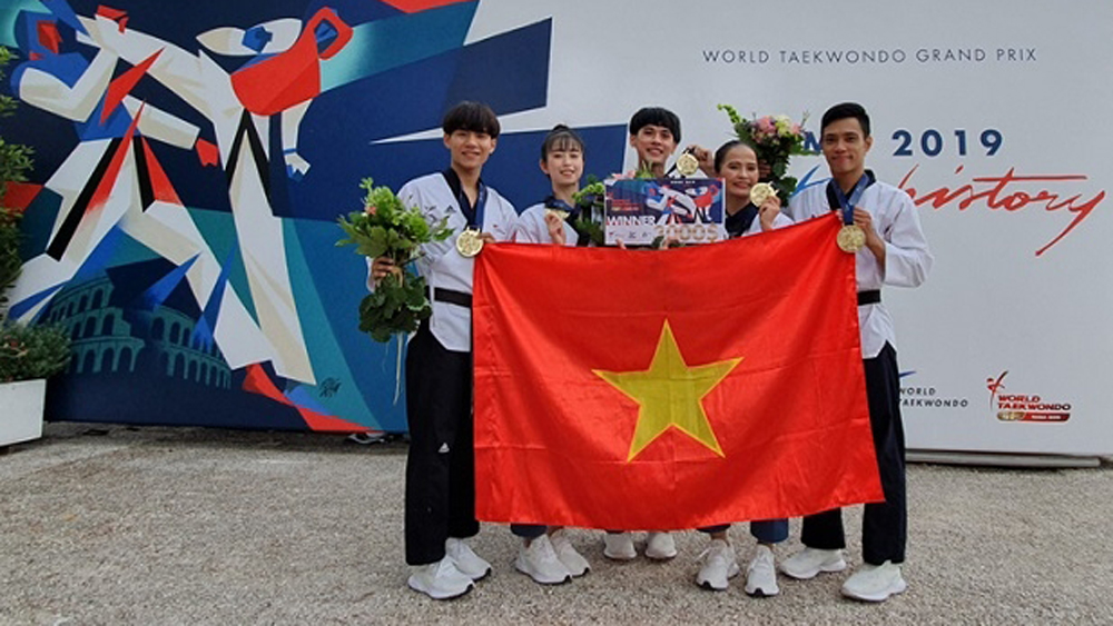 Vietnam wins gold medal at World Taekwondo Grand Prix in Italy