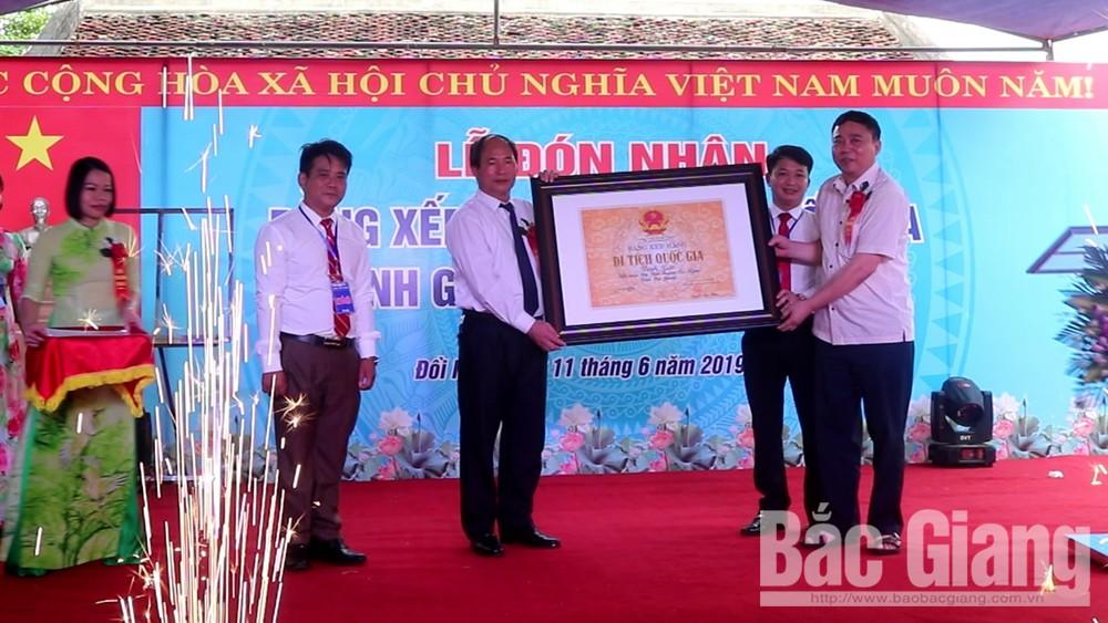 Thị trấn Đồi Ngô đón nhận Bằng Di tích lịch sử cấp Quốc gia Đình Gai
