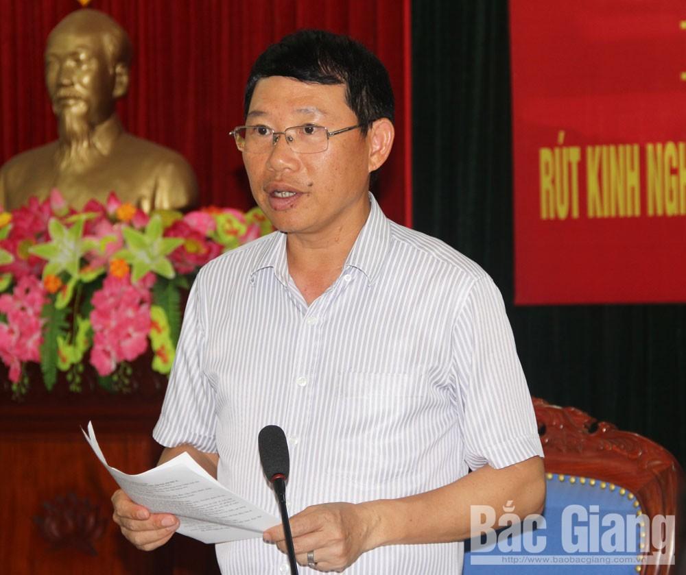 Ban Chỉ đạo 515, rút kinh nghiệm, Tân Yên, nhân chứng sống, khai thác thông tin, Lê Ánh Dương, Phó Chủ tịch UBND tỉnh