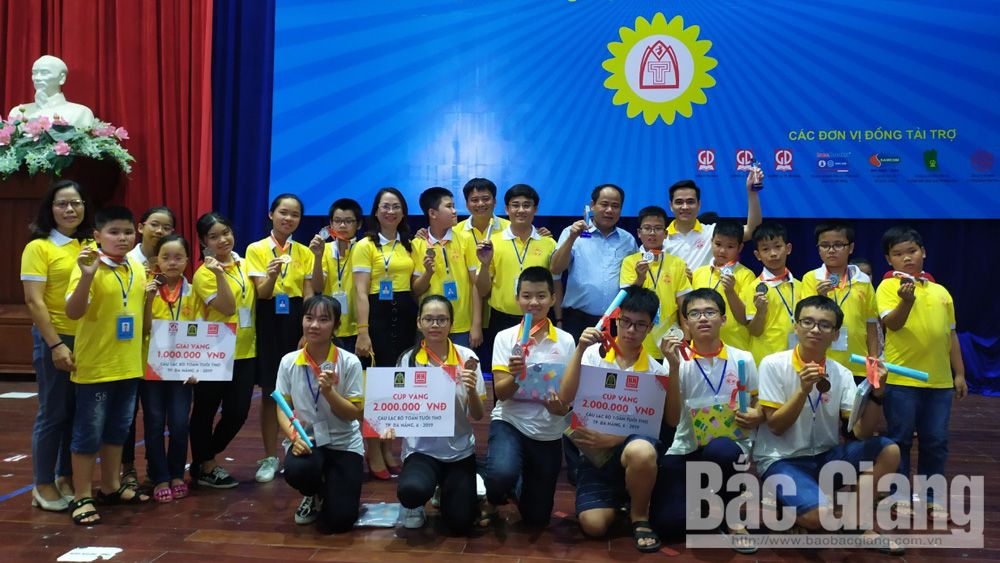 All students,  Bac Giang city, medals, Childhood Math Club National Contest 2019, Vietnam Education Publishing House, Childhood Mathematics Magazine,  Bac Giang delegation, excellent results, teamwork skill
