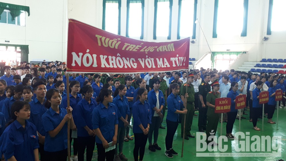 hành động, phòng chống ma túy, ma túy, tội phạm ma túy, huyện Lục Nam, tỉnh Bắc Giang