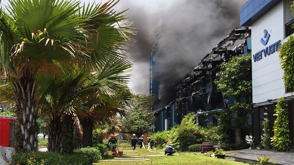 Cháy lớn, Khu công nghiệp Thụy Vân, Phú Thọ, Công ty cổ phần Việt Vương