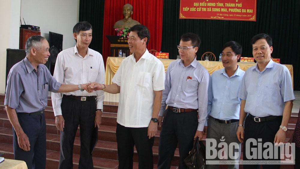 HĐND, tiếp xúc cử tri, trước kỳ họp, TP Bắc Giang, Bí thư Tỉnh ủy Bùi Văn Hải