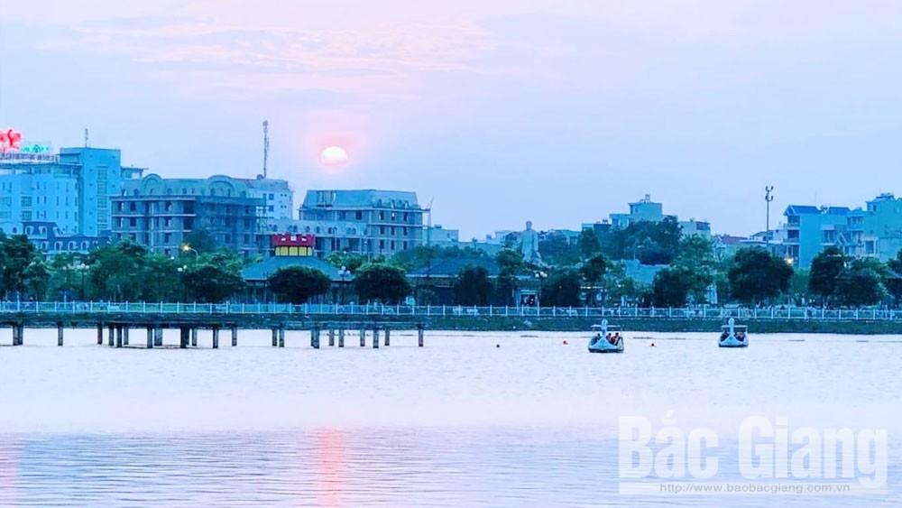 Công viên Hoàng Hoa Thám, TP Bắc Giang, công trình xanh, Vết gợn