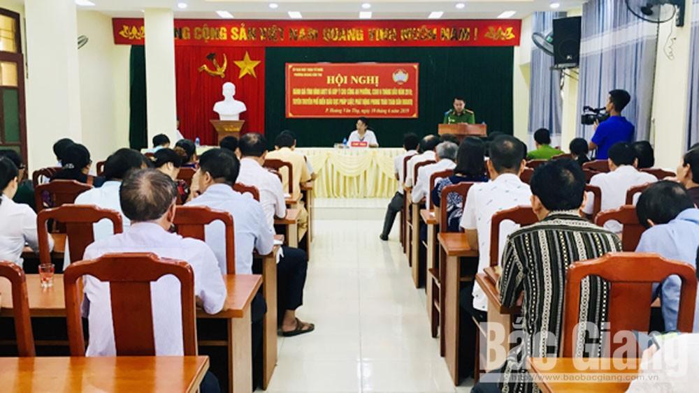 Phối hợp bảo đảm an ninh trật tự tại phường Hoàng Văn Thụ