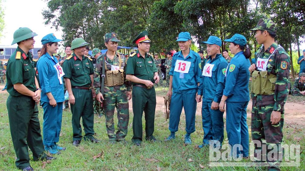 vận động viên, hội thao, lực lượng vũ trang Bắc Giang; dân quân; bộ đội.