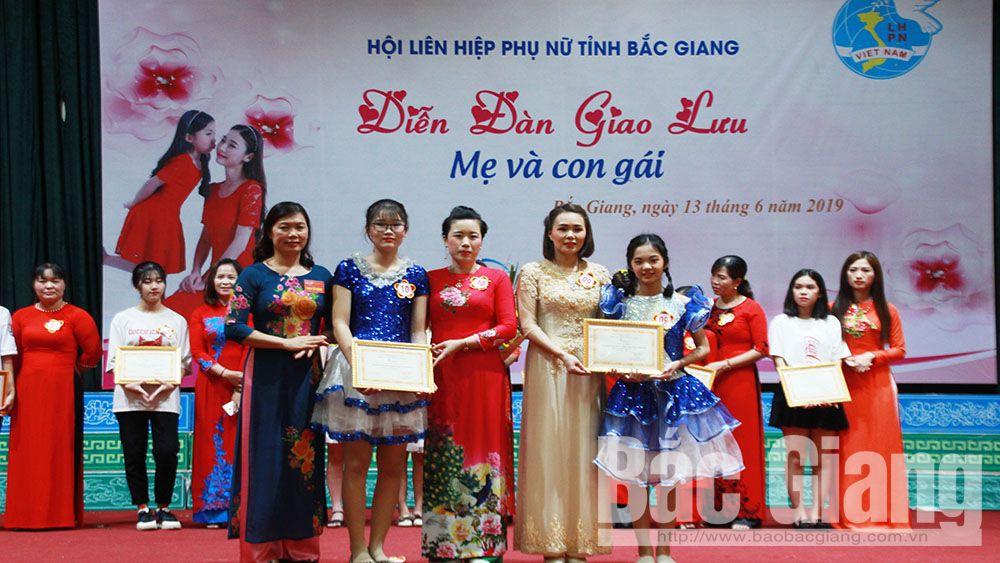 Bắc Giang, hội thi mẹ và con gái, phòng chống bạo lực, xâm hại tình dục, bảo vệ chăm sóc trẻ em