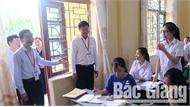 Thứ trưởng Bộ GD&ĐT Lê Hải An kiểm tra công tác chuẩn tổ chức kỳ thi THPT quốc gia tại Bắc Giang