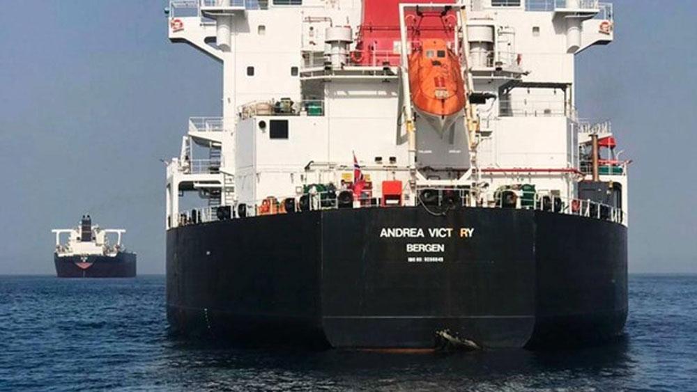 Sự cố tàu trên Vịnh Oman, Iran, cứu hộ 44 thủy thủ
