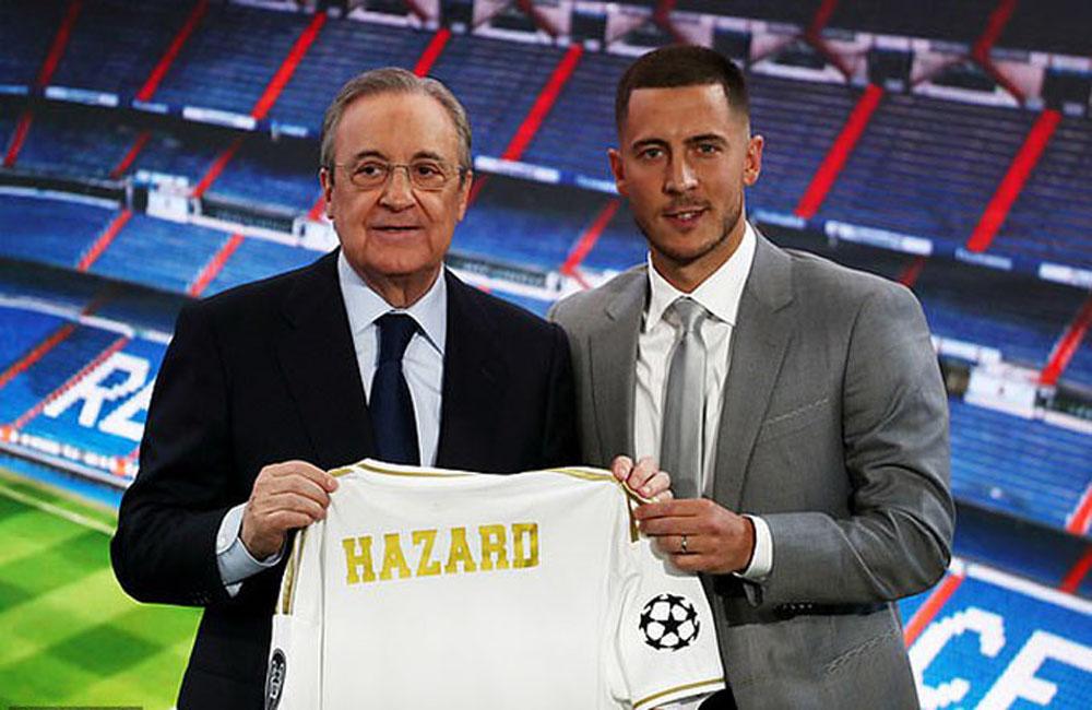 Eden Hazard, Real Madrid, ra mắt, trước công chúng